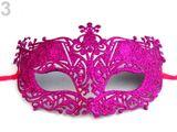 Karnevalová maska - škraboška s glitrami