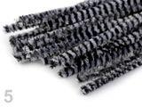 Chlpaté drôtiky prúžkované Ø6 mm dĺžka 30 cm