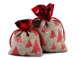 Vianočná darčekové vrecko 10x13 cm imitácia juty