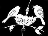 Kovová dekorácia / girlanda vtáci na zavesenie