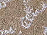 Darčekové vrecúško jeleň s glitrami 13x18 cm imitácia juty
