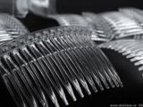 Hrebeň plastový do vlasov 45x70 mm