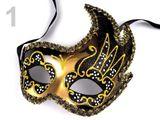 Karnevalová benátská maska BIANCA