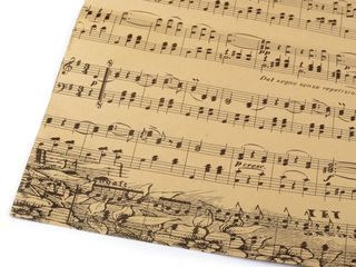 Baliaci / dekoračný papier noty 50x75 cm