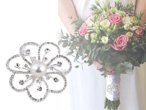 Brošňa / svadobná ozdoba na kytice
