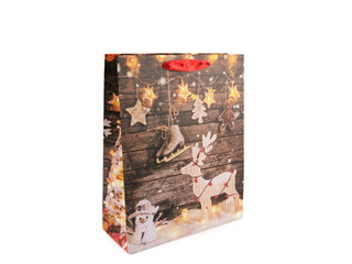 Darčeková taška vianočná, stredná veľkosť