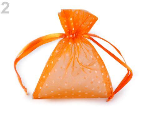Darčekové vrecúško 10x13 cm organza s bodkami