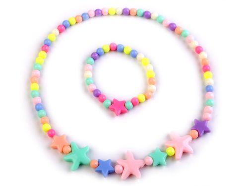 Detská sada náhrdelník a náramok s hviezdami