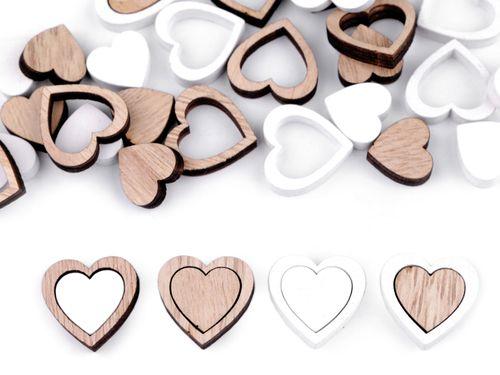 Drevené srdce dvojdielne