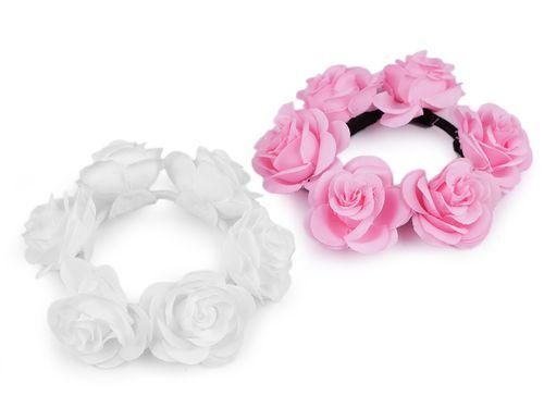 Gumička do vlasov s ružami
