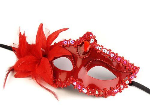 Karnevalová maska - škraboška s kvetom