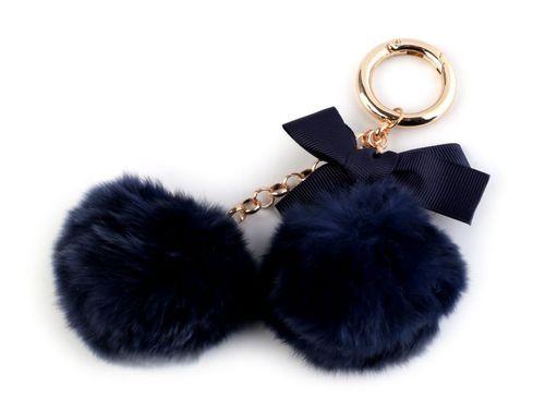 Kožušinový prívesok na kabelku / kľúče