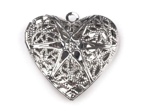 Medailónik srdce 26x26 mm otváracie