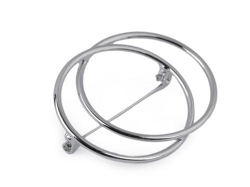 Minimalistická brošňa kruhy
