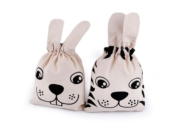 Bavlnené vrecko zajac, tyger