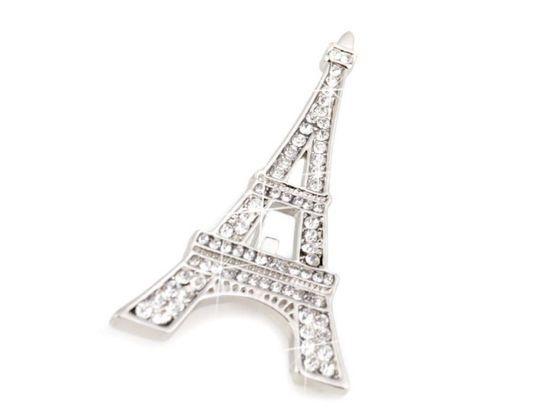 Brošňa s brúsenými kamienkami Paríž, mašľa