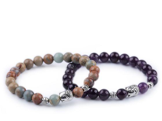 Buddha náramok minerály, dámsky