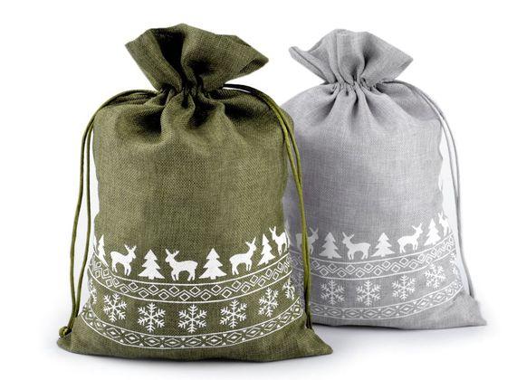 Darčekové vianočné / mikulášske vrecko 20x30 cm