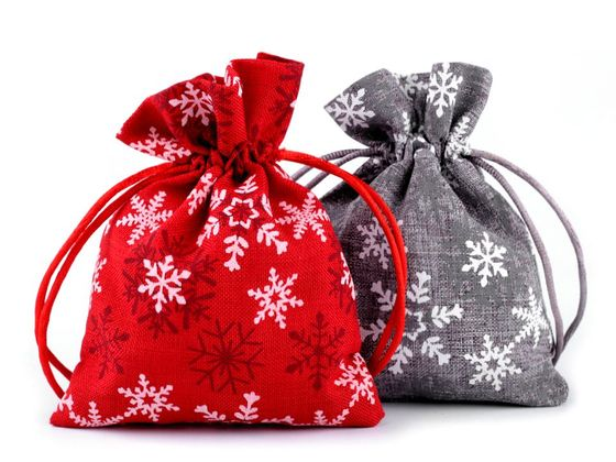 Darčekové vianočné vrecko 10x13 cm