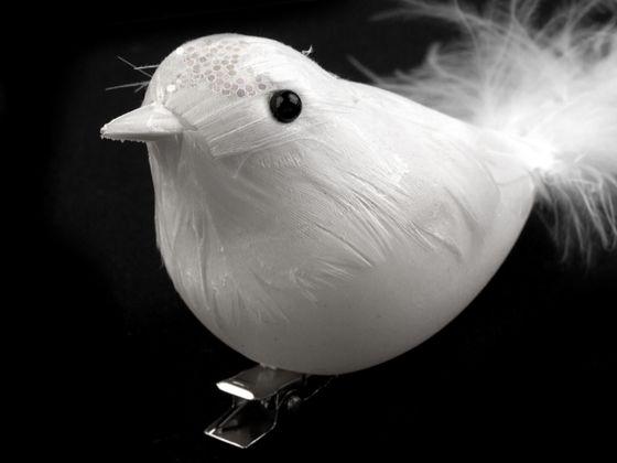 Dekorácia vtáčik s klipsom