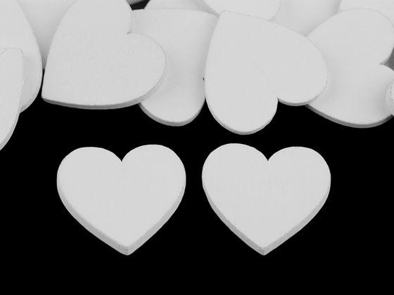 Drevené srdce na domaľovanie / na nalepenie Ø25 mm