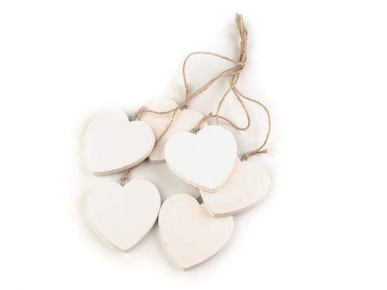 Drevené srdce Ø70 mm s motúzikom