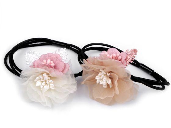 Gumička do vlasov s kvetmi