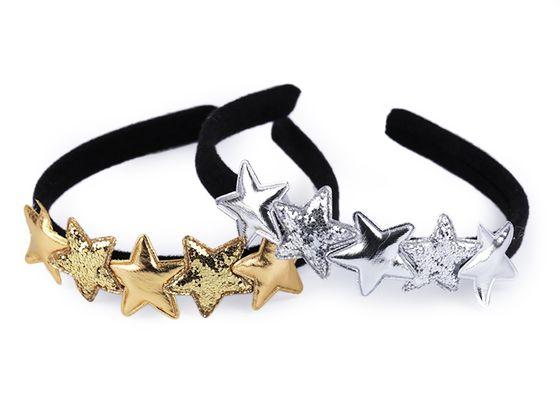 Karnevalová čelenka s hviezdami