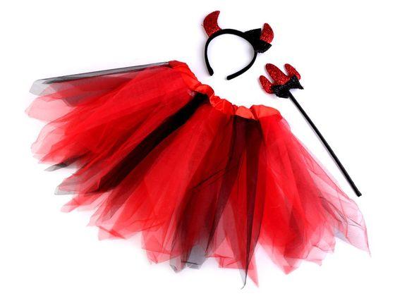 Karnevalový kostým - anjel a čertica