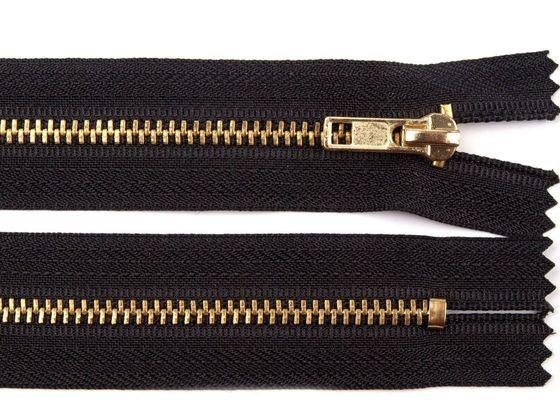 Kovový / mosadzný zips šírka 4 mm dĺžka 16 cm nohavicový
