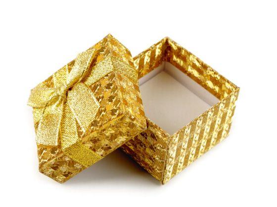 Krabička exkluzívna  s mašľou 5x5 cm
