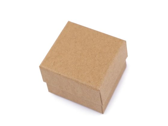 Krabička na šperky natural 5x5 cm