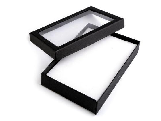 Krabička s priehľadom polstrovaná 12x16 cm