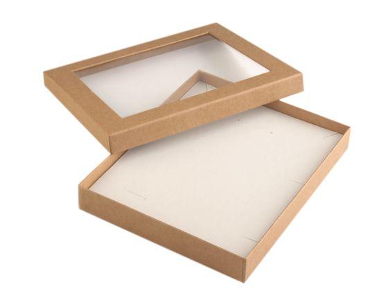 Krabička s priehľadom  polstrovaná 16x19,5 cm