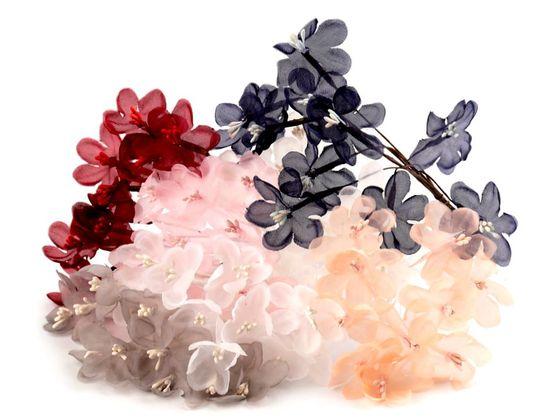 Luxusný kvet na drôtiku / polotovar na výväzky