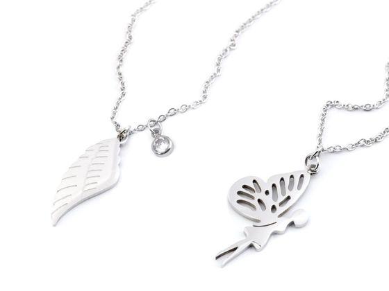 Náhrdelník víla, krídlo z nerezovej ocele
