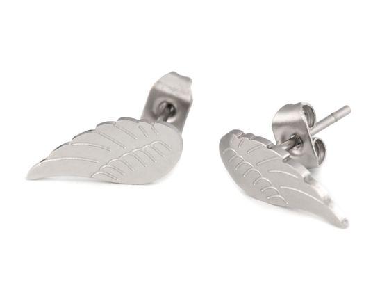 Náušnice krídla z nerezovej ocele
