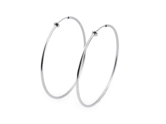 Náušnice kruhy na uši bez dierok z nerezovej ocele