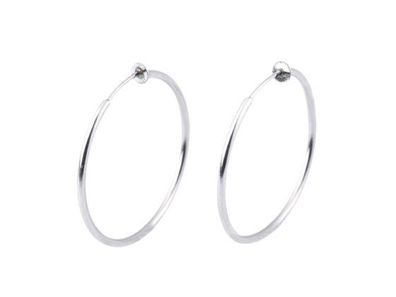 Náušnice kruhy pre uši bez dierok z nerezovej ocele