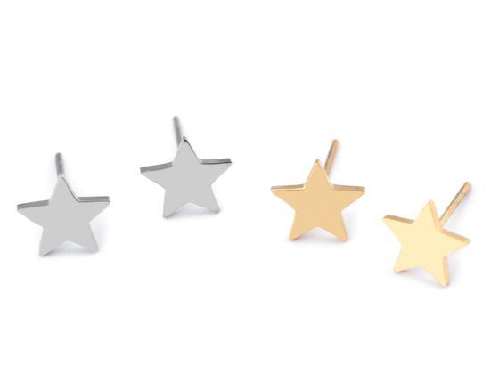 Náušnice z nerezovej ocele hviezda