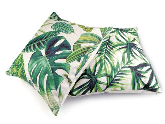 Obliečka na vankúš listy tropickej džungle 43x43 cm