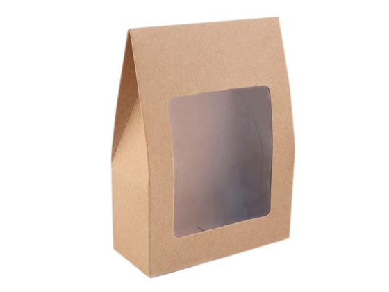 Papierová krabica natural s priehľadom