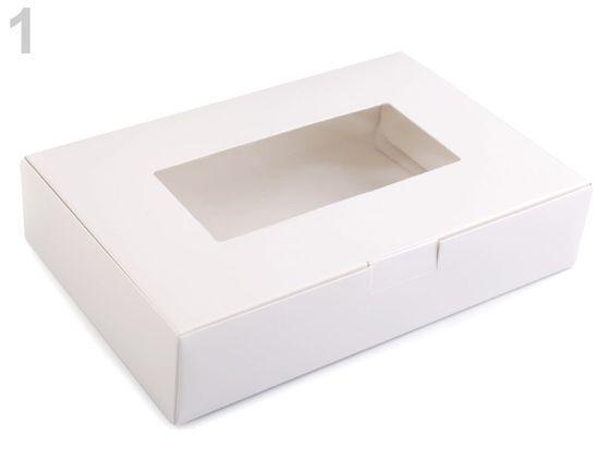 Papierová krabica s priehľadom
