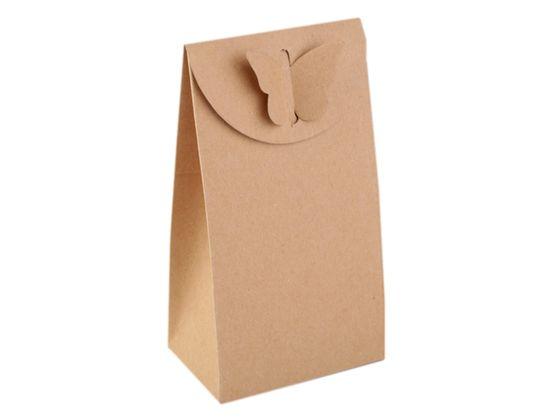 Papierová krabička naturál s motýľom