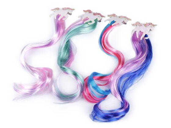 Pramienky vlasov so sponou jednorožec