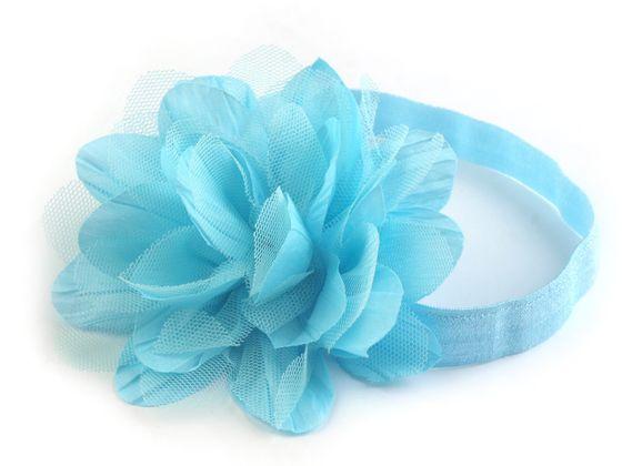 Pružná čelenka do vlasov s kvetom