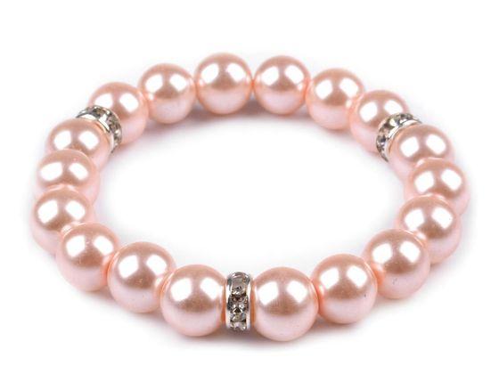 Pružný perlový náramok