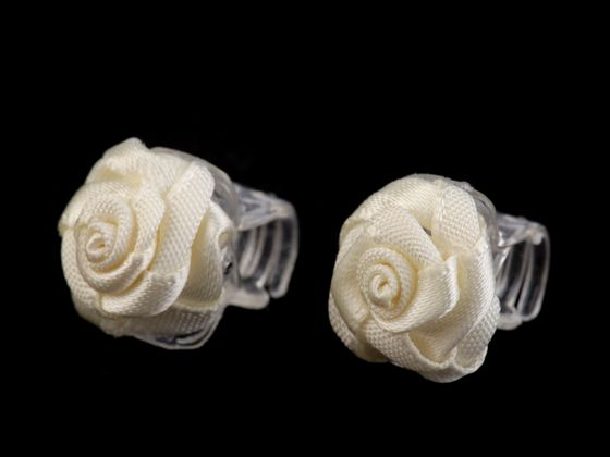Štipec do vlasov 10x13-15 mm s ružičkou