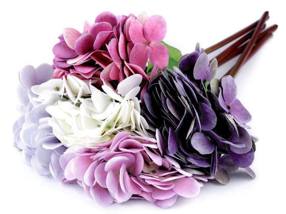 Umelá hortenzia veľkokvetá na aranžovanie