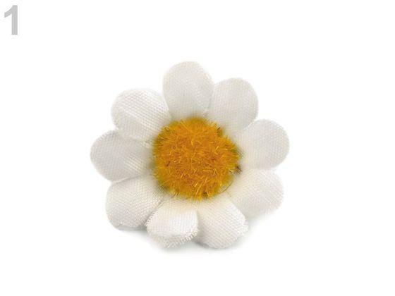 Umelý kvet margarétka Ø30, Ø40 mm